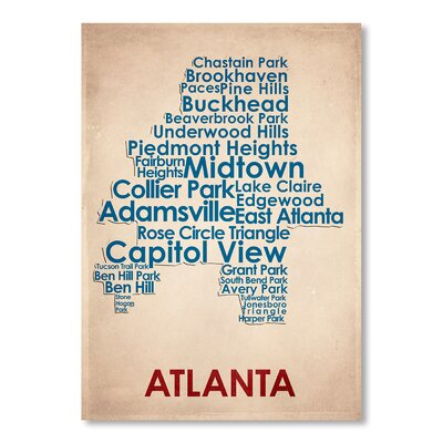 Americanflat Atlanta Typography on Canvas