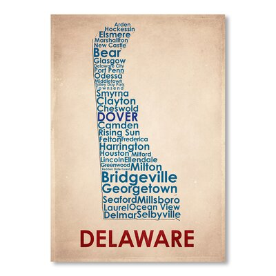 Americanflat Delaware Typography on Canvas