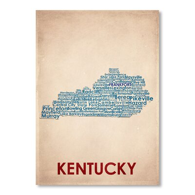 Americanflat Kentucky Typography on Canvas