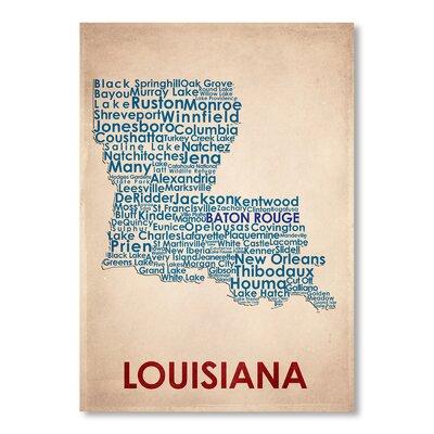 Americanflat Louisiana Typography on Canvas