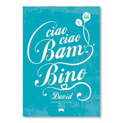 Americanflat Ciao Ciao by Patricia Pino Typography Wrapped on Canvas