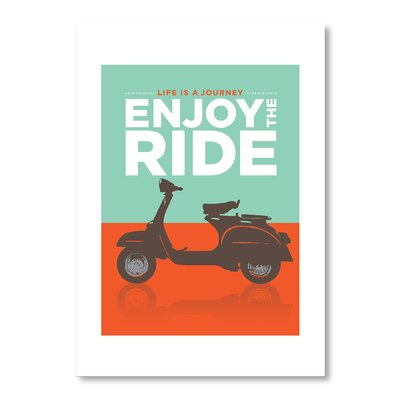 Americanflat Enjoy The Ride by Liz Lyons Vintage Advertisement Wrapped on Canvas