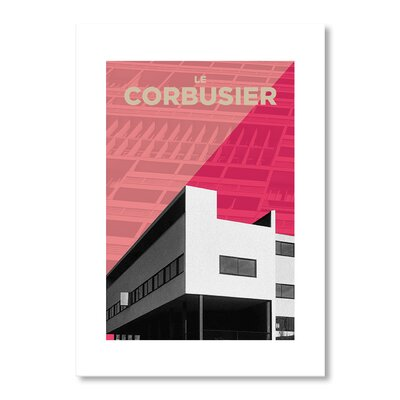 Americanflat Corbusier Pink by Liz Lyons Graphic Art