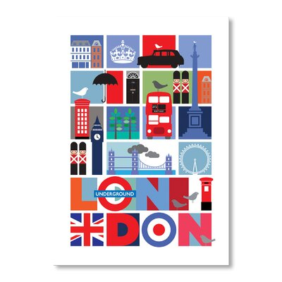 Americanflat London by Liz Lyons Graphic Art on Canvas