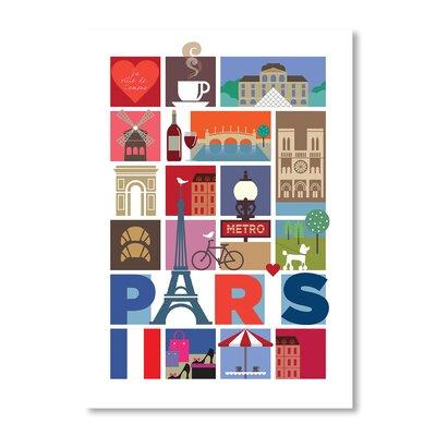 Americanflat Paris by Liz Lyons Graphic Art