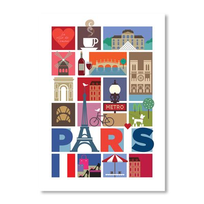Americanflat Paris by Liz Lyons Vintage Advertisement Wrapped on Canvas
