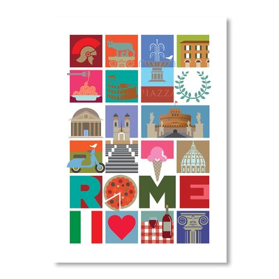 Americanflat Rome by Liz Lyons Graphic Art