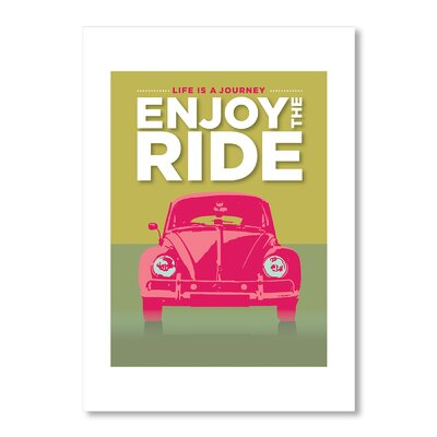 Americanflat Enjoy The Ride by Liz Lyons Graphic Art Wrapped on Canvas