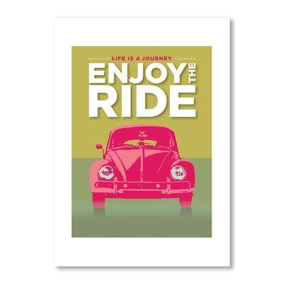 Americanflat Enjoy The Ride by Liz Lyons Graphic Art