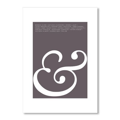 Americanflat Ampersand Love Graphic Art Wrapped on Canvas