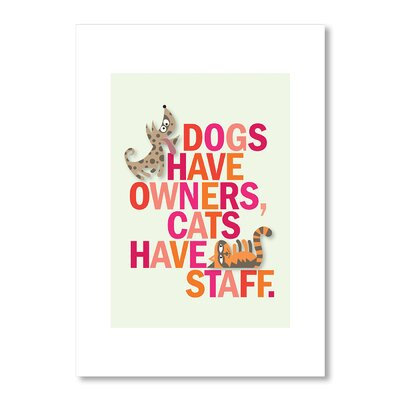 Americanflat Dogs and Cats by Liz Lyons Typography Wrapped on Canvas