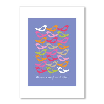 Americanflat Birds Made for Each Other by Liz Lyons Graphic Art in Purple