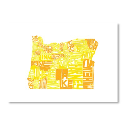 Americanflat Oregon by Crystal Capritta Typography on Canvas
