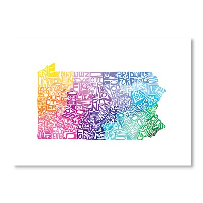 Americanflat Pennsylvania Spring by Crystal Capritta Typography Wrapped on Canvas