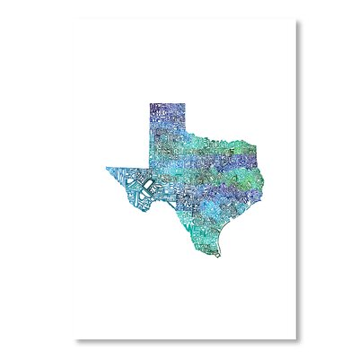 Americanflat Texas Cool by Crystal Capritta Typography Wrapped on Canvas