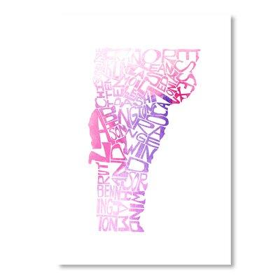 Americanflat Utah Orange Water by Crystal Capritta Typography in Pink
