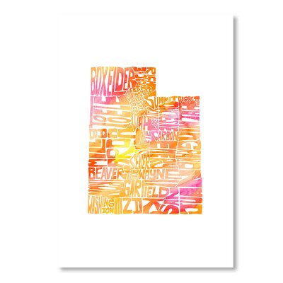 Americanflat Vermont by Crystal Capritta Typography on Canvas