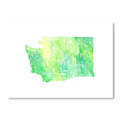 Americanflat Washington by Crystal Capritta Typography Wrapped on Canvas