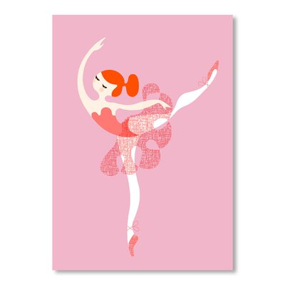 Americanflat Ballerina Arabesque by Jeanie Nelson Graphic Art in Pink