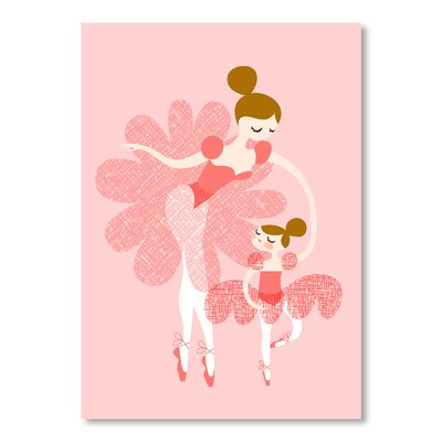 Americanflat Ballerina Mother and Daughter by Jeanie Nelson Graphic Art Wrapped on Canvas