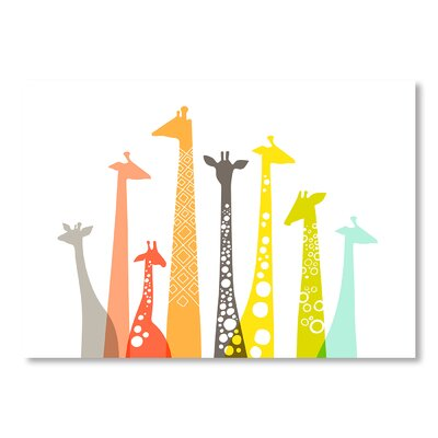 Americanflat Giraffes by Jeanie Nelson Graphic Art on Canvas