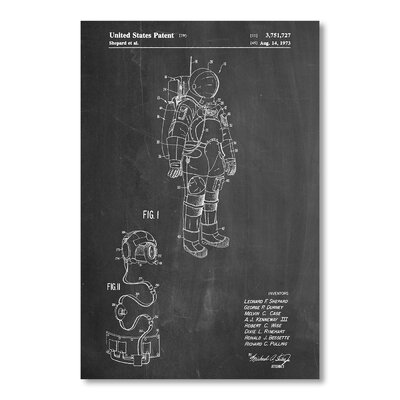 Americanflat Space Suit by House of Borders Graphic Art in Grey