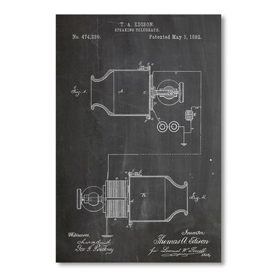 Americanflat Speaking Telegraph by House of Borders Graphic Art in Grey