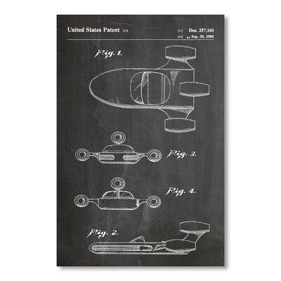 Americanflat Star Wars Landspeeder by House of Borders Graphic Art in Grey