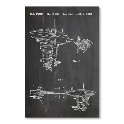Americanflat Star Wars Rebel Space Vehicle by House of Borders Graphic Art