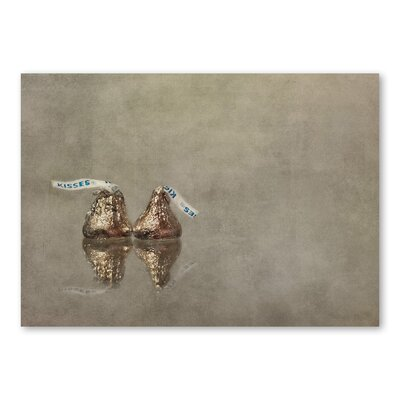 Americanflat Kisses by Lina Kremsdorf Graphic Art in Beige