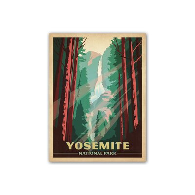 Americanflat Yosemite National Park by Anderson Design Group Vintage Avertisement Wrapped on Canvas