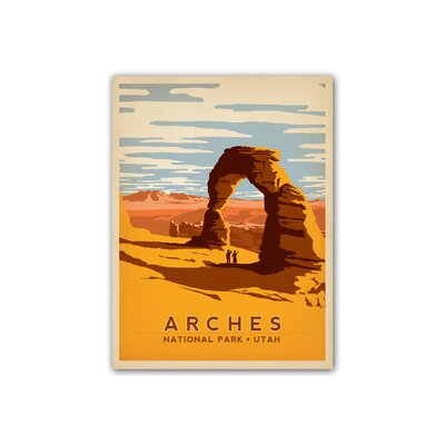 Americanflat Arches National Park by Anderson Design Group Vintage Advertisement Wrapped on Canvas
