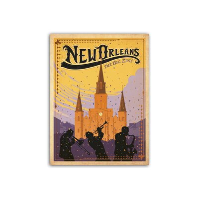 Americanflat New Orleans by Anderson Design Group Vintage Advertisement Wrapped on Canvas
