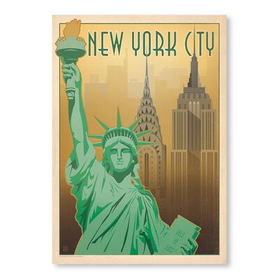 Americanflat NYC - Skyline by Anderson Vintage Advertisement Wrapped on Canvas