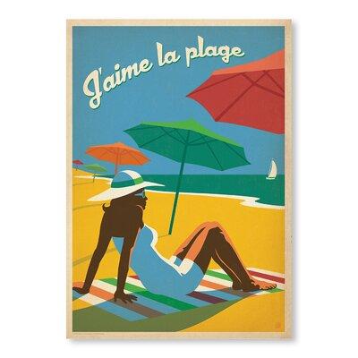Americanflat J'aime La Plage by Anderson Design Group Vintage Advertisement