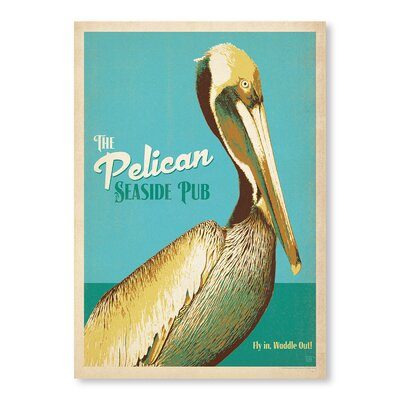 Americanflat Pelican Pub by Anderson Design Group Vintage Advertisement in Turquoise