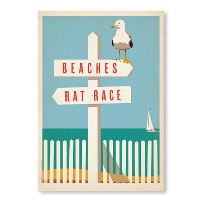 Americanflat Beach Rat Race by Anderson Vintage Advertisement Wrapped on Canvas