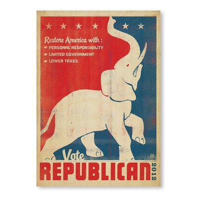 Americanflat Vote Republican by Anderson Design Group Vintage Advertisement