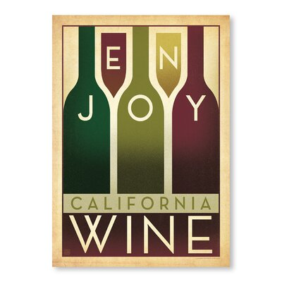 Americanflat Enjoy Wine by Anderson Design Group Vintage Advertisement Wrapped on Canvas