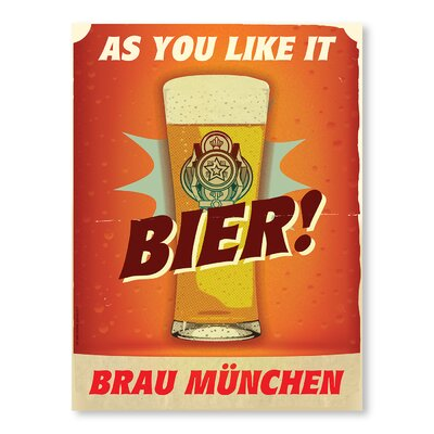 Americanflat Bier by Diego Patino Vintage Advertisement in Orange