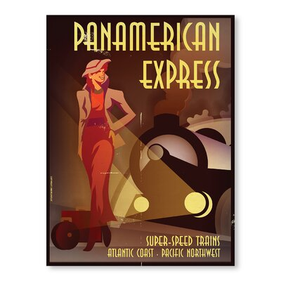 Americanflat Pan-American Express by Diego Patino Vintage Advertisement on Canvas