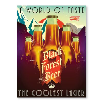 Americanflat Forest Beer by Diego Patino Vintage Advertisement Wrapped on Canvas