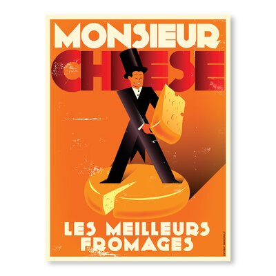 Americanflat Monsieur Cheese by Diego Patino Vintage Advertisement on Canvas