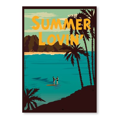 Americanflat Summer Lovin by Diego Patino Vintage Advertisement in Blue