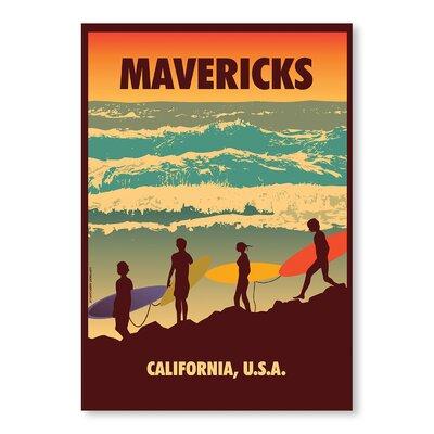 Americanflat Mavericks by Diego Patino Vintage Advertisement