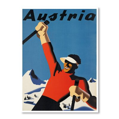 Americanflat Austria Ski by Chad Hyde Vintage Advertisement Wrapped on Canvas