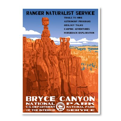 Americanflat Bryce Canyon National Park by Chad Hyde Vintage Advertisement Wrapped on Canvas