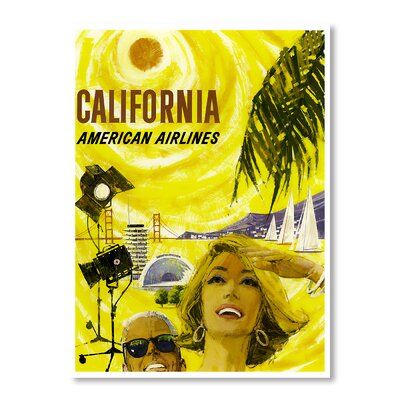 Americanflat California by Chad Hyde Vintage Advertisement Wrapped on Canvas