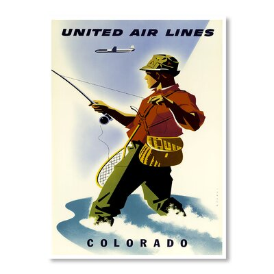 Americanflat Colorado by Chad Hyde Vintage Advertisement Wrapped on Canvas
