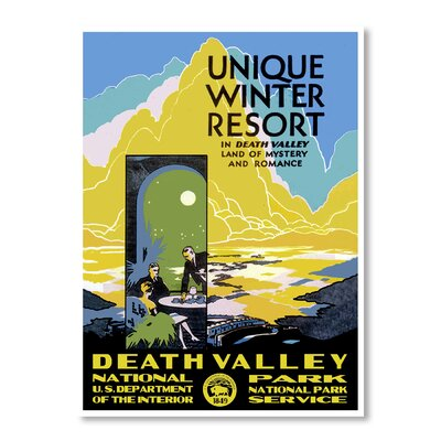 Americanflat Death Valley National Park by Chad Hyde Vintage Advertisement Wrapped on Canvas